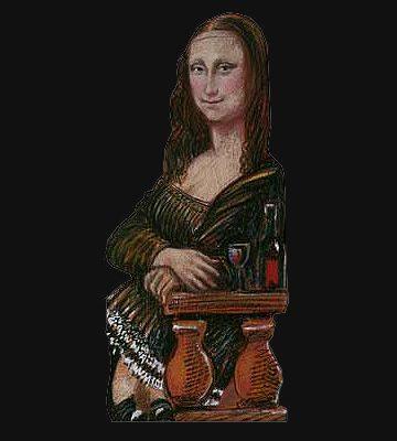 Buchstütze Mona Lisa
