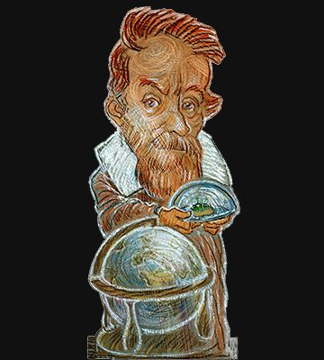 Buchstütze Galileo Galilei