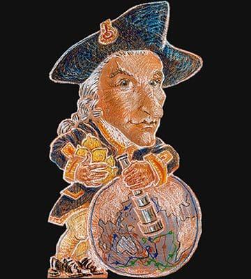 Buchstütze James Cook