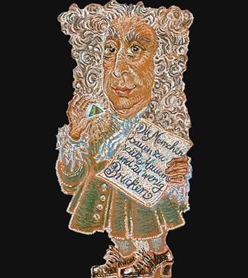 Buchstütze Isaac Newton