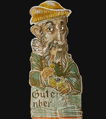 gutenberg-johannes-buchstuetze-karikatur
